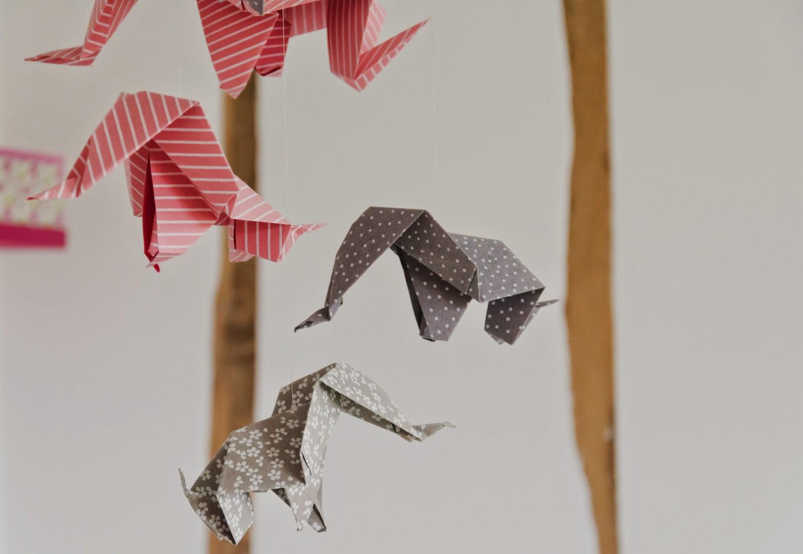 Mobile - origami  - elephant