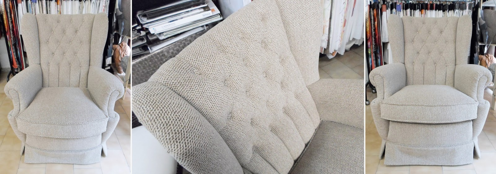 Tapicer a carrasco asturias el tapizado capiton - Tejidos para tapizar sillas ...