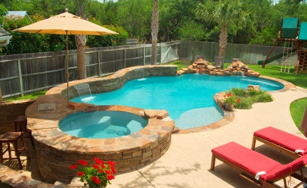 10 modern swimming pool design and simple exclusive home for Simple backyard pools