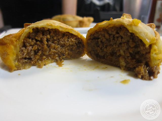 image of beef empanada at La Isla in Hoboken, NJ