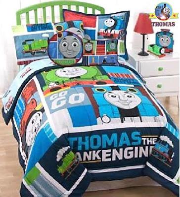 Baby nursery room item train Henry Gordon and Thomas decorated playroom kids slumbertime comforter