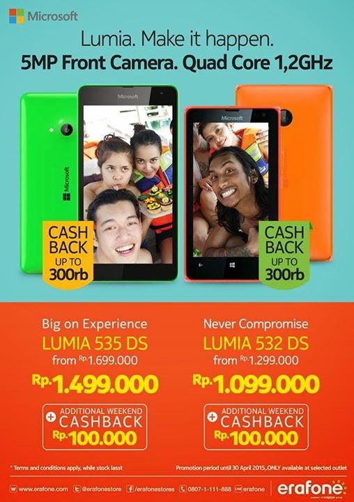 Microsoft Lumia Murah Rp 1 Jutaan Cashback Hingga Rp 400 Ribu