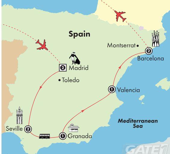 Spain November 12 - 26 2018