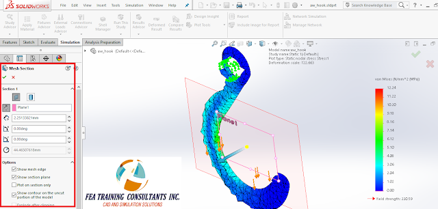 meshin in solidworks simulation 2016