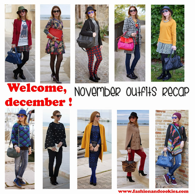 Welcome december, November outfits recap on Fashion and Cookies
