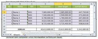 tutorial MS Excel | Menyisipkan MS Excel pada MS Word
