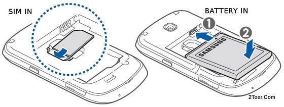 Samsung Galaxy Mini GT-S5570 Insert SIM Card Slot Compartment Assemble