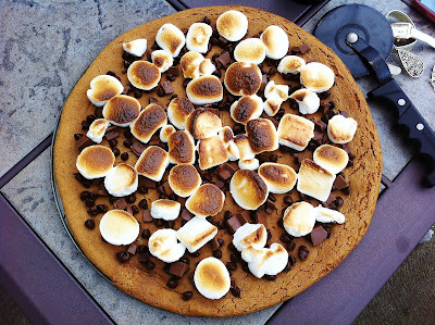 S'mores Pizza with Graham Cracker Cookie Crust