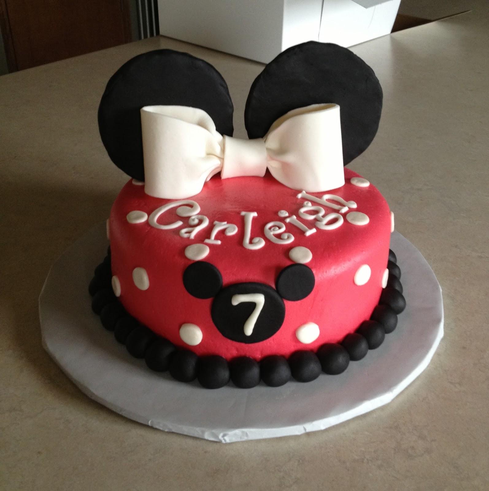 Minnie Mouse Fondant Birthday Cakes