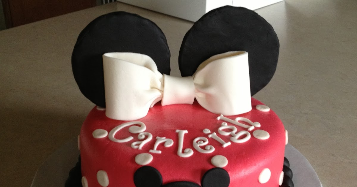 Minnie Mouse Cakes Red And Black
