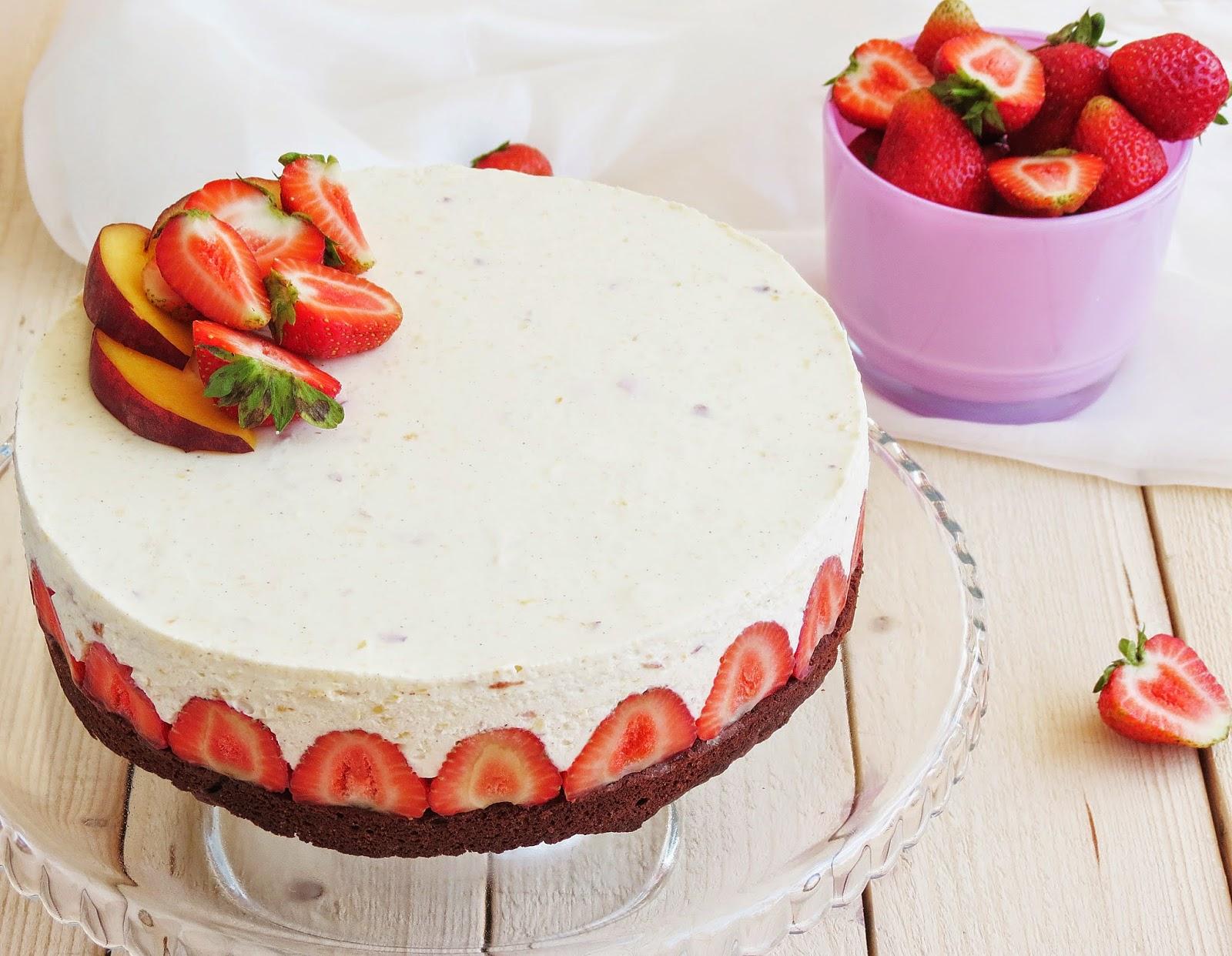 Муссовый торт клубника со сливками