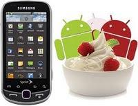 Dernière Mise à jour Android 2.2 Froyo disponible Pour Smartphone Samsung Intercept