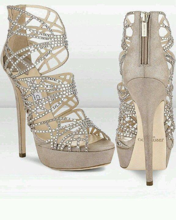 Jimmy Choo Shimmer Suede Sandals