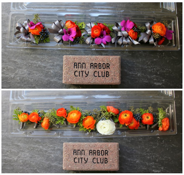 ann arbor city club wedding fall pallet gem tones ranunculus seeded eucalyptus orchids viburnum berries scented geranium leaf home grown sweet pea floral design corsages and boutonnieres wedding flowers detroit ann arbor