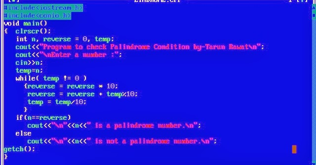 C Programming Palindrome Numbers