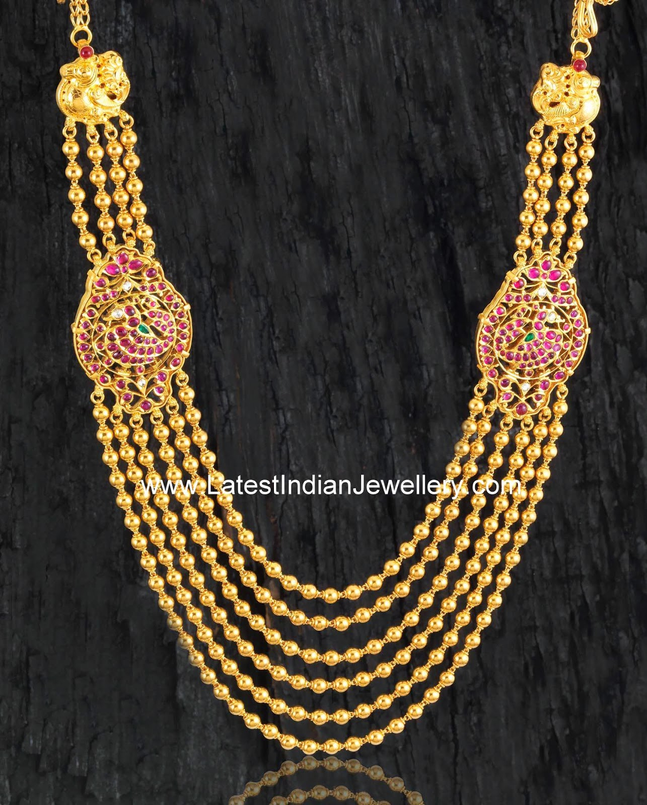 gold beads chandra haram