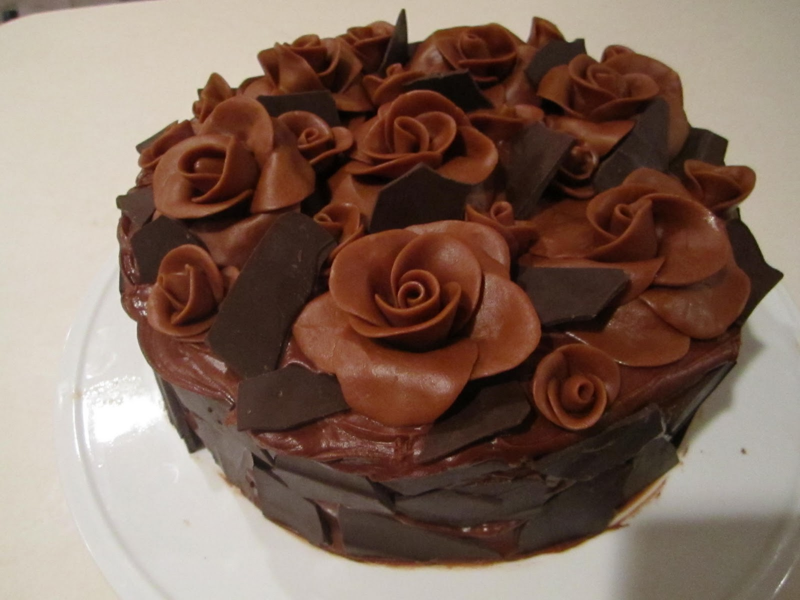 Frosted Insanity: Death by chocolate with chocolate roses for Kira