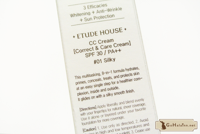 Etude House Correct & Care CC Cream Silky Review