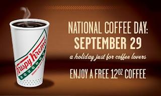 Free Krispie Kreme coffee