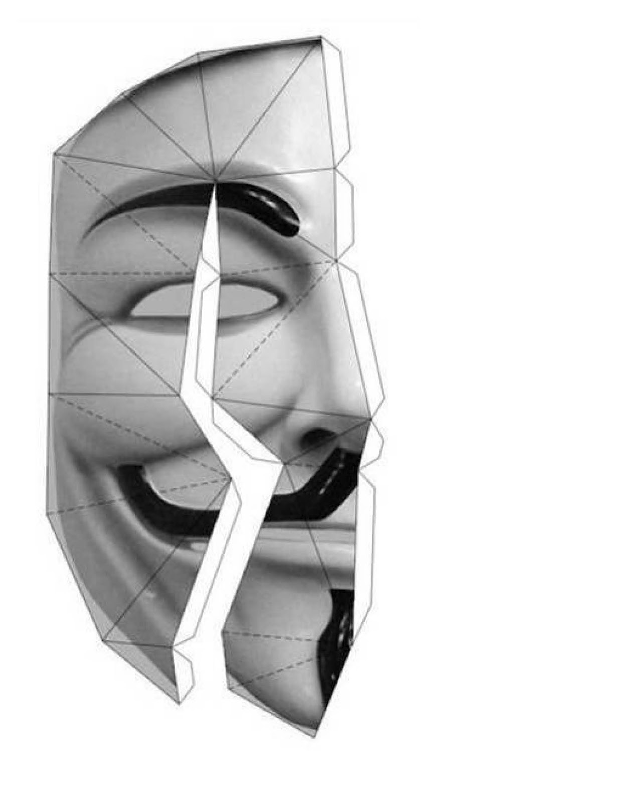 how to draw guy fawkes mask