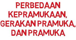 Perbedaan Kepramukaan, Pramuka, dan Gerakan Pramuka