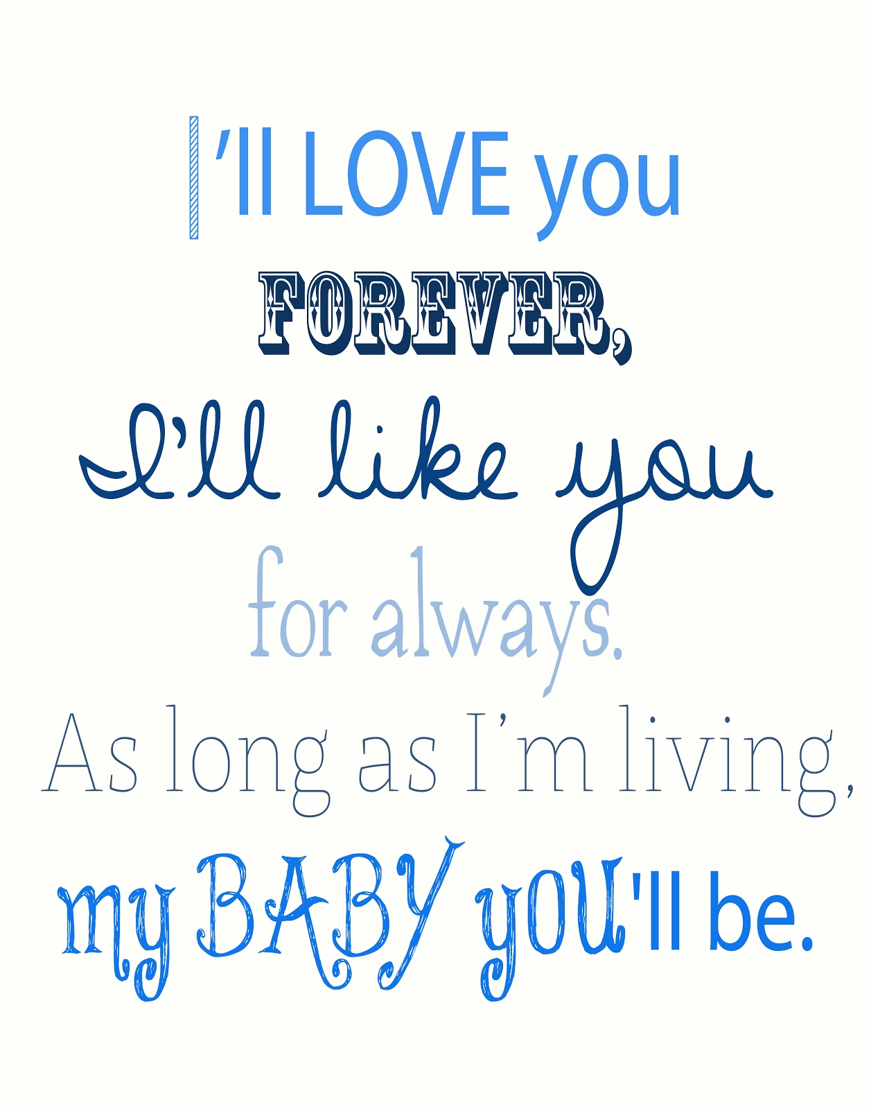 I Love You Baby Forever Quotes