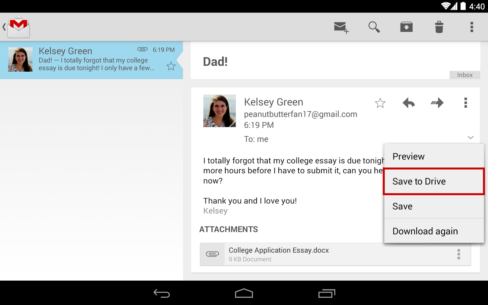 how to insert pdf from google drive into gmail