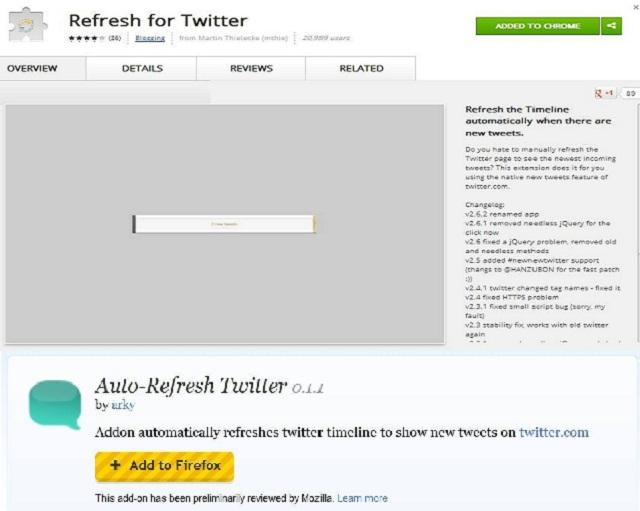 Refresh Twitter