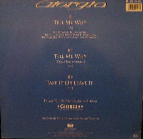 Giorgia - Tell Me Why (Maxi 12 Mix)