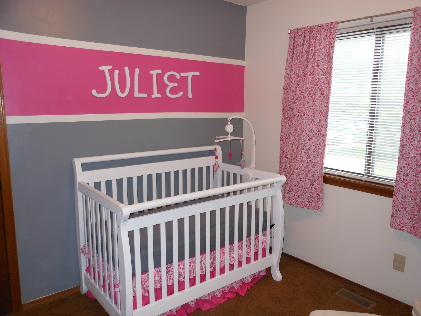 Random Musings Of A Military Wife Pink Grey Nursery Reveal
