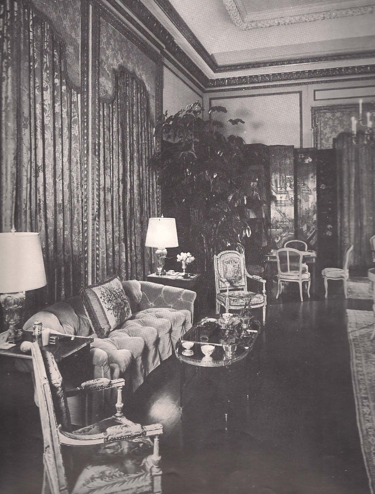 as decorated by Anthony Hail. Photo from ID&D '66 edited by Jacqueline  Inchbald.