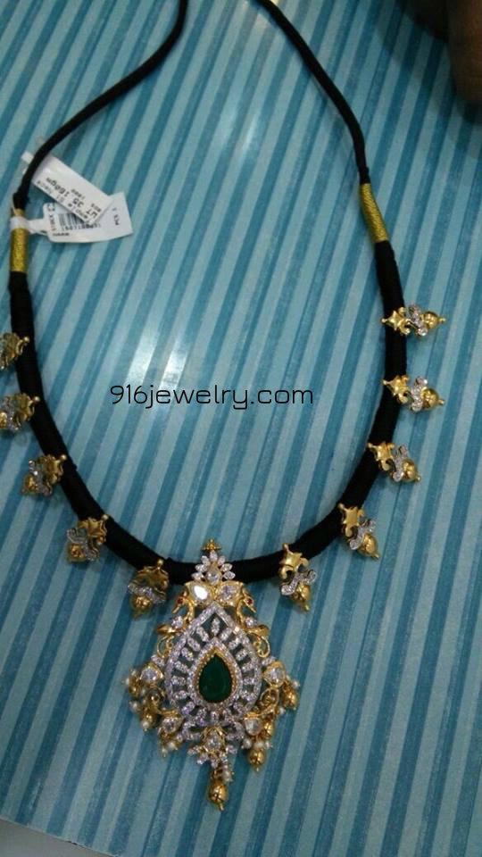 black thread necklaces designs | 916 jewellery || Haram Necklaces