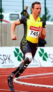 Pistorius en la pista de atletismo