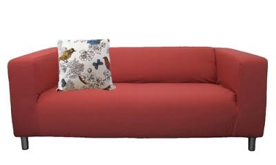 Crimson Klippan slipcover by Knesting.com