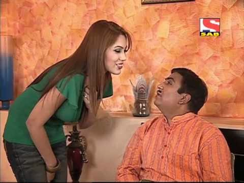 Jethalal and babita in bedroom