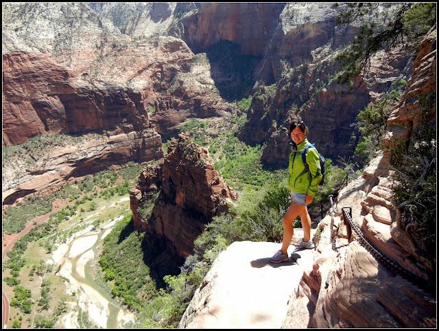 Me hiking to Angel's Landing in Zion National Park in Utah