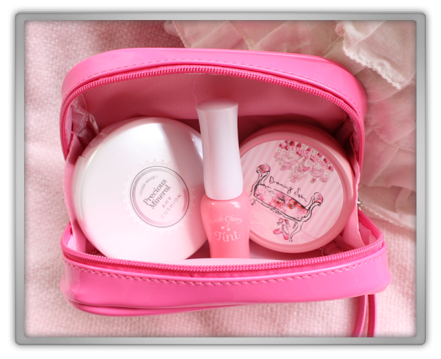 Etude House Pouch Hoarder Haul Review pink hot pouch mesh leather wanna be sweet lace bag pencil case