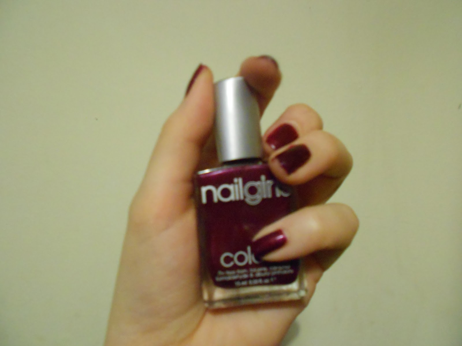 Nailgirls: Burgundy #3 Deep Red Wine Review - Bee Waits For No One