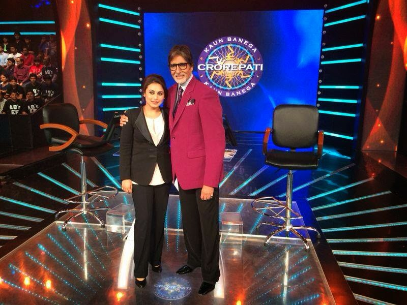 Rani Mukarjee at KBC to promote her movie Mardaani