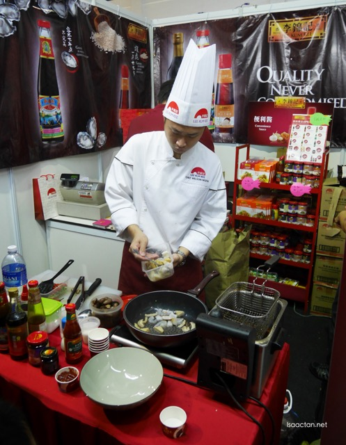Some sampling dishes were prepared at the booth