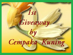1st Giveaway by Cempaka Kuning