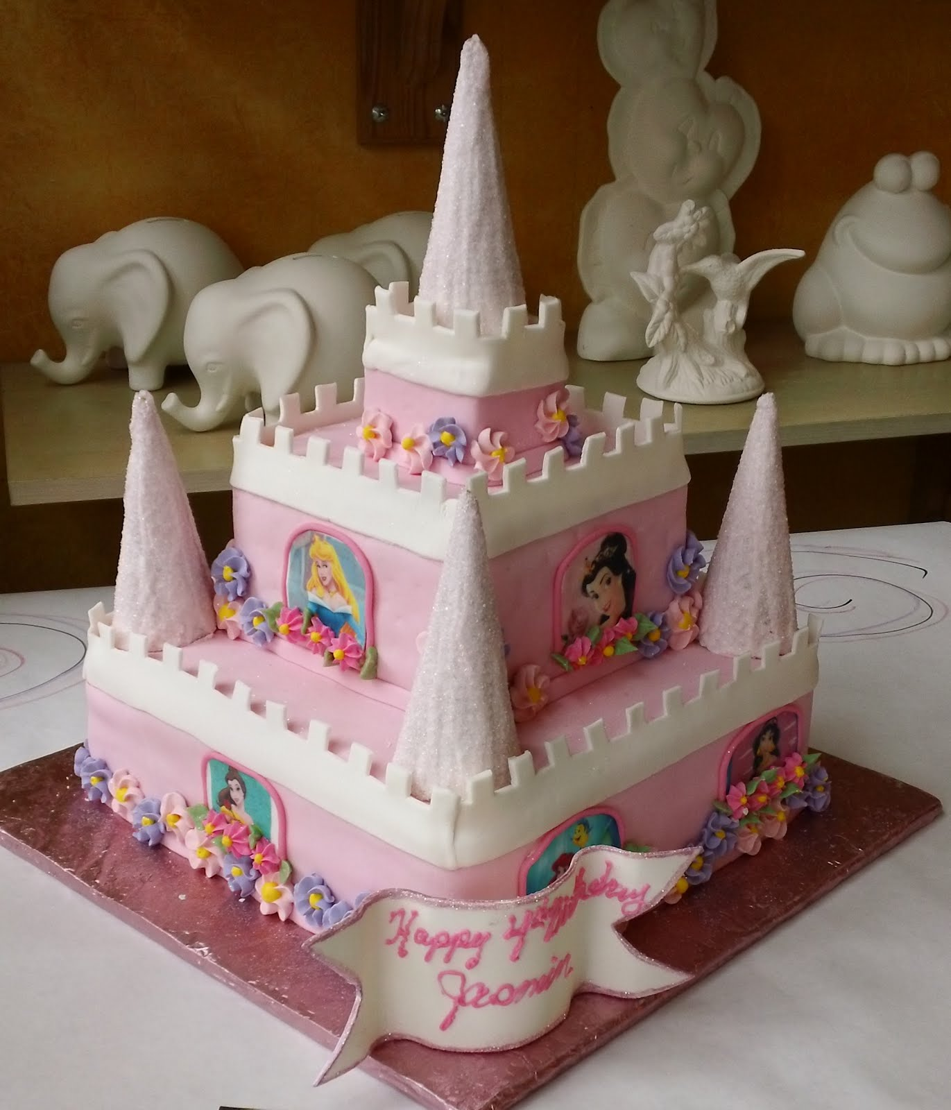 Princess Cake Design : Desserts by Dawn: Princess Castle cake