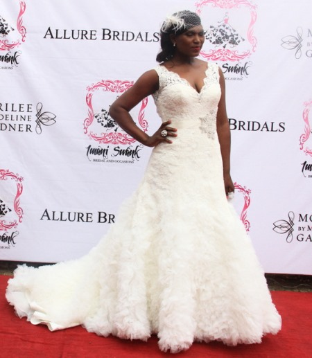 Nigerian Celebrity Wedding Dresses : Nigerian celebrities dazzle in allure bridal wedding