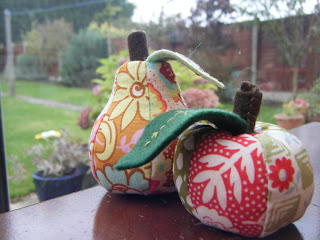 Apple & Pear pincushions