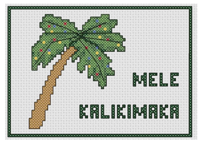 Cross stitch fan free cross sttich hawaiian christmas greeting this is a simple little pattern of the traditional hawaiian christmas greeting m4hsunfo