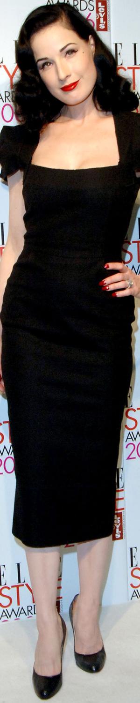 Dita Von Teese in Roland Mouret Galaxy 2006 Elle Style Awards
