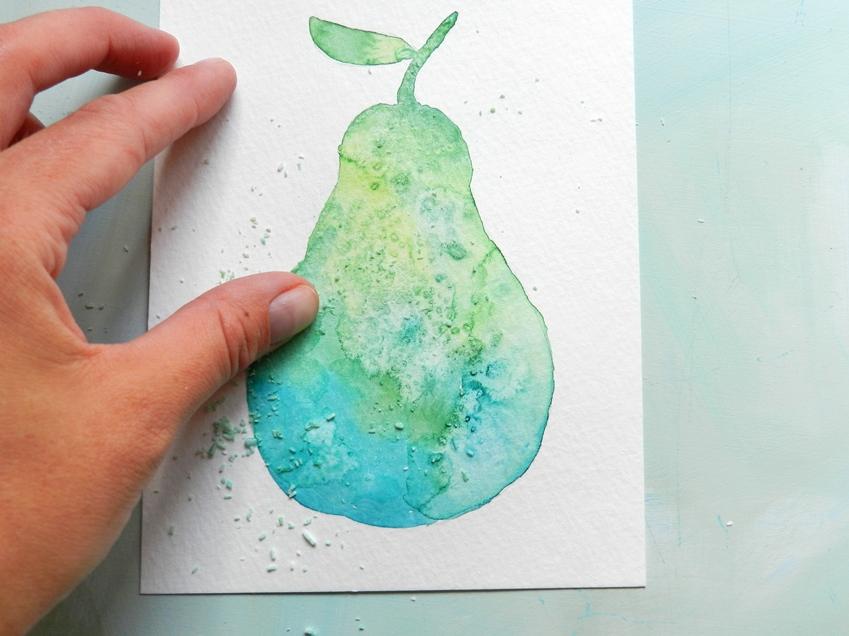 Watercolor Textures with Salt: grow creative