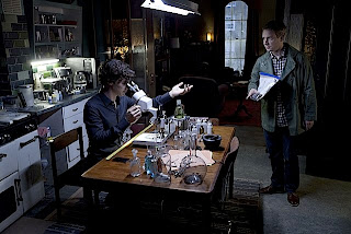 Benedict Cumberbatch and Martin Freeman as Sherlock Holmes and Dr John Watson in A Scandal in Belgravia