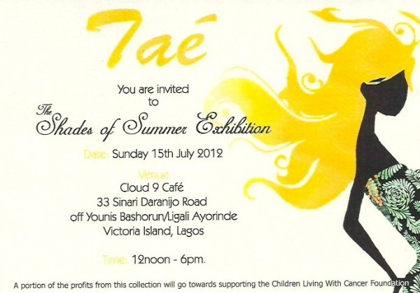 Welcome to fari boudoir event calender shades of summer exhibition you are invited to the tae shades of summer exhibition date sunday 15th july 2012 time 12 noon 6pm venue cloud 9 cafe stopboris Image collections