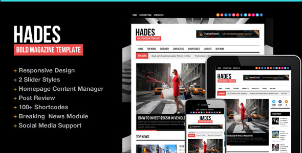 Hades 1.3 Magazine Newspaper WP Theme Responsive